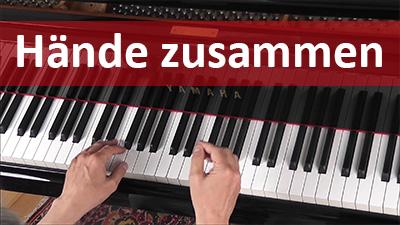 Klavier lernen mit beiden Händen