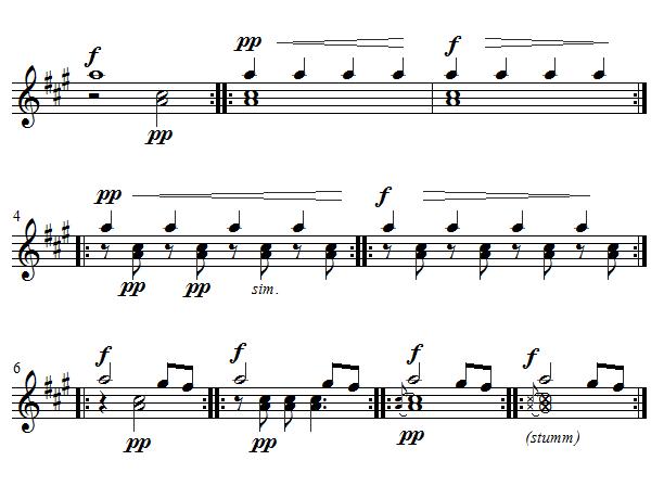 Klavierakkorde Melodie-Ton in Akkorden hervorheben