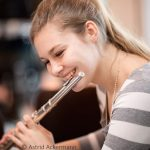 Flötistin Melanie Gleissner
